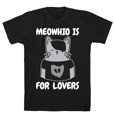 Meowhio Is For Lovers Mens/Unisex T-Shirt