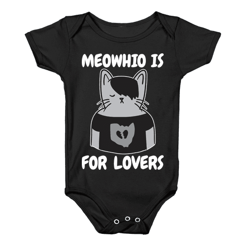 Meowhio Is For Lovers Baby Onesy