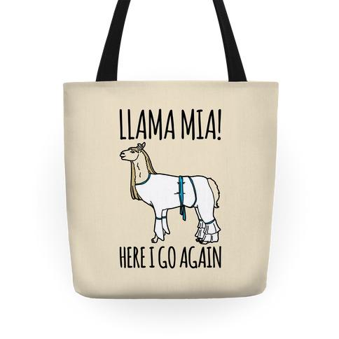 Llama Mia Parody Tote