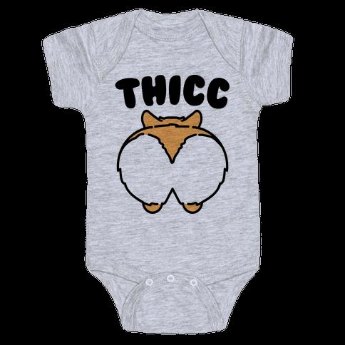 Thicc Corgi Butt Parody Baby Onesy