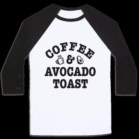 Coffee & Avocado Toast Baseball Tee