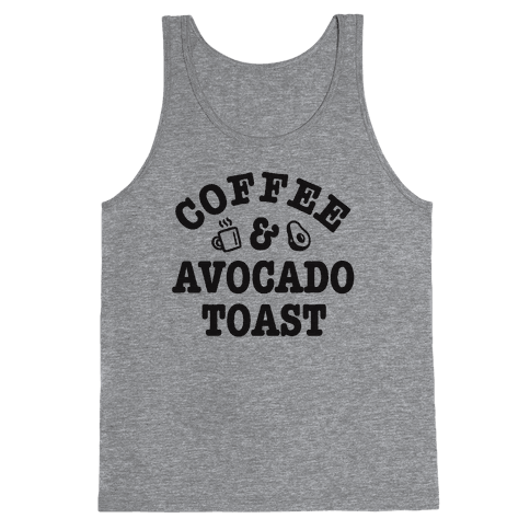 Coffee & Avocado Toast Tank Top