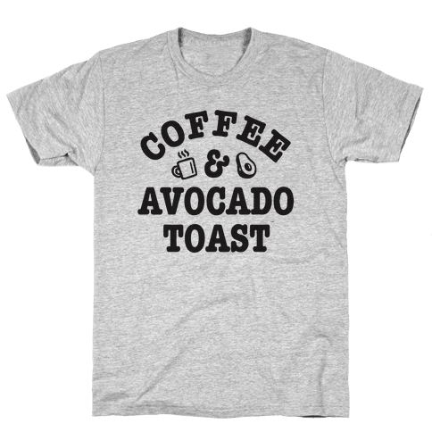 Coffee & Avocado Toast Mens T-Shirt