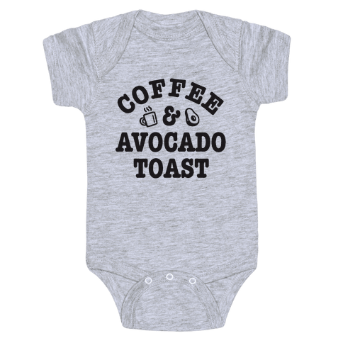 Coffee & Avocado Toast Baby Onesy