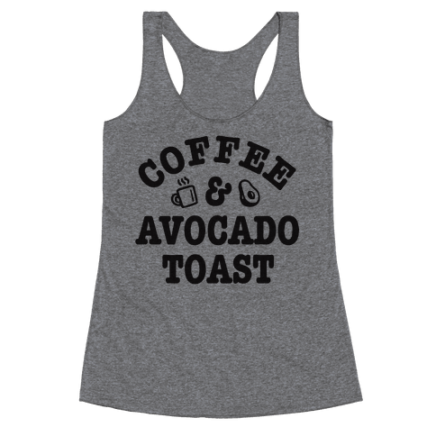 Coffee & Avocado Toast Racerback Tank Top