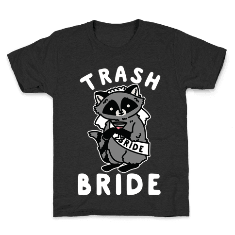 Trash Bride Raccoon Bachelorette Party Kids T-Shirt