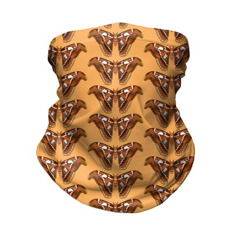 Atlas Moth Pattern Neck Gaiter