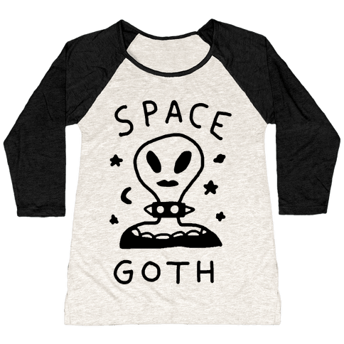 Space Goth Alien Baseball Tee
