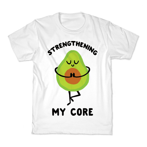 Strengthening My Core Kids T-Shirt