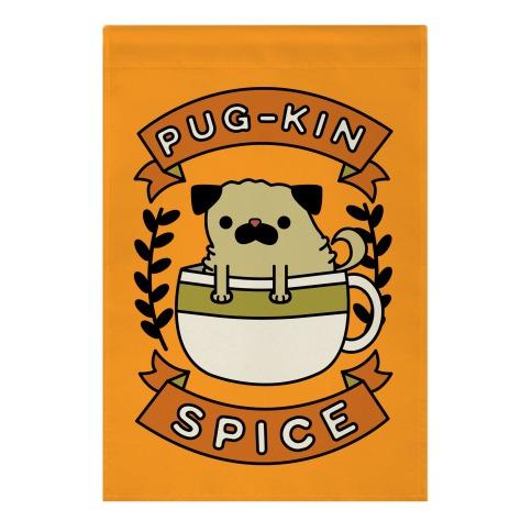 Pugkin Spice Garden Flag