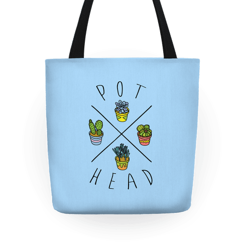 Pot Head Succulents Tote