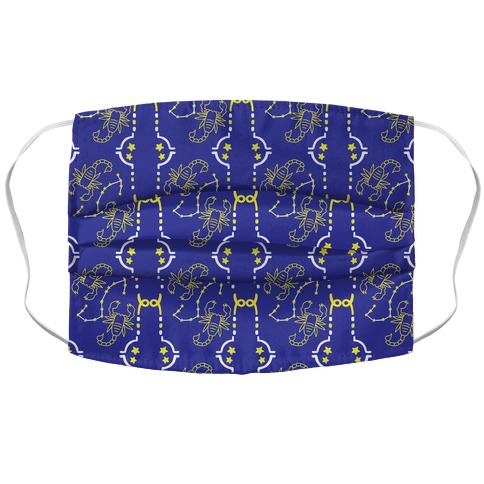 Scorpio Stars Pattern Accordion Face Mask