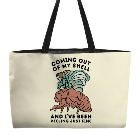Coming Out of My Shell Weekender Tote