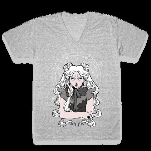 Goth Usagi (Sailor Moon Parody) V-Neck Tee Shirt