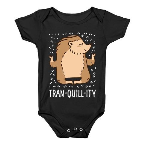 Tran-QUILL-ity - Hedgehog Baby Onesy