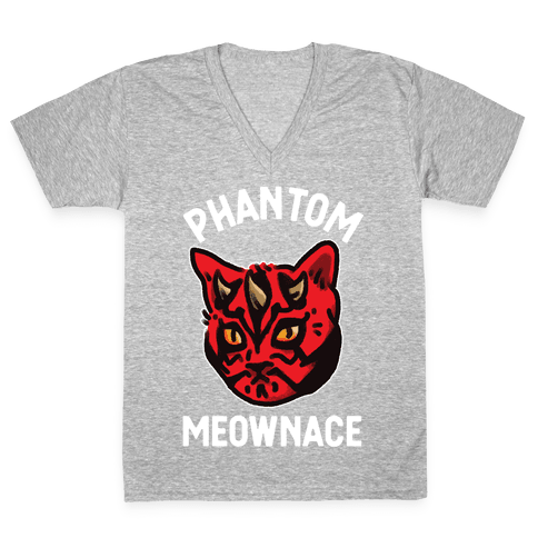 The Phantom Meownace V-Neck Tee Shirt