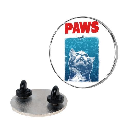 PAWS (Jaws Parody) Pin