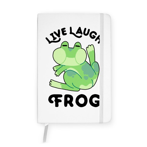 Live, Laugh, Frog Notebook