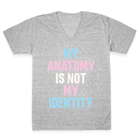My Anatomy Is Not My Identity V-Neck Tee Shirt