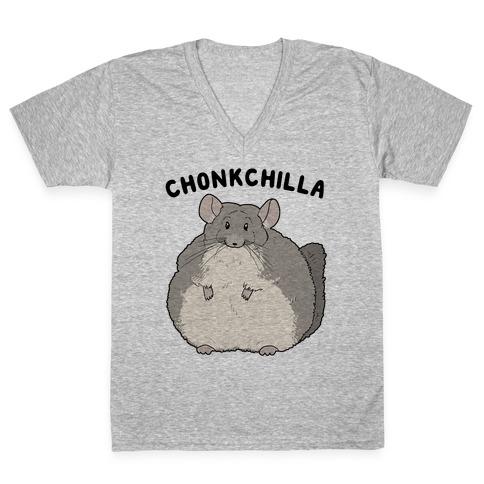 Chonkchilla V-Neck Tee Shirt