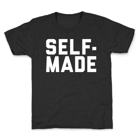 Self-Made White Print Kids T-Shirt