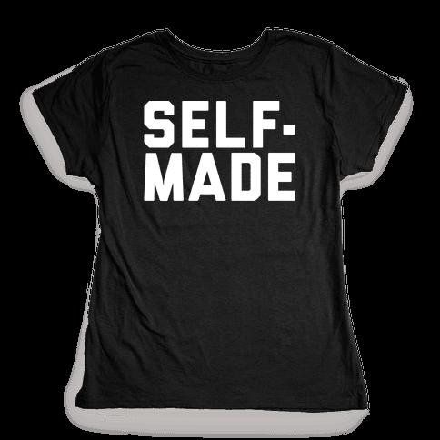Self-Made White Print Womens T-Shirt