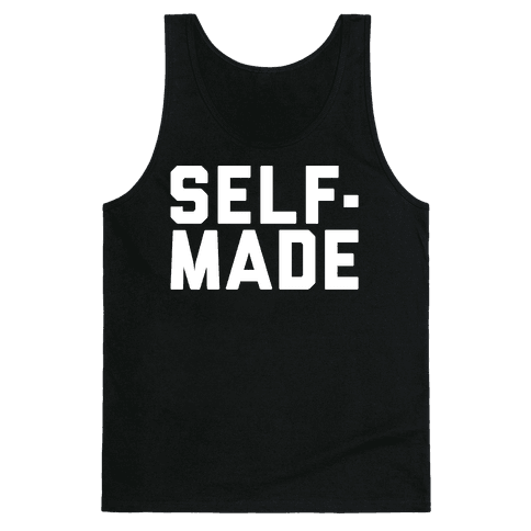 Self-Made White Print Tank Top