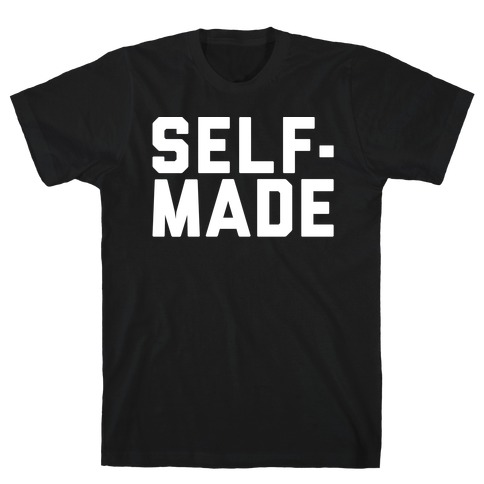 Self-Made White Print T-Shirt