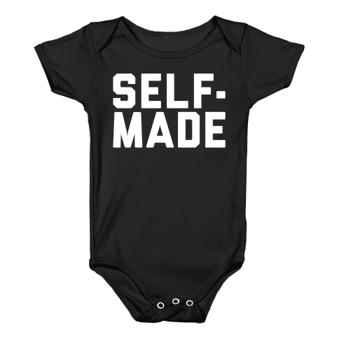 Self-Made White Print Baby Onesy