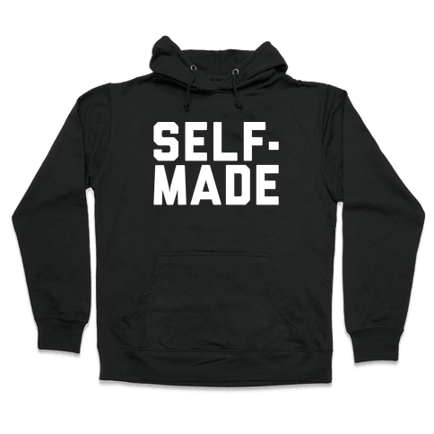 Self-Made White Print Hooded Sweatshirt