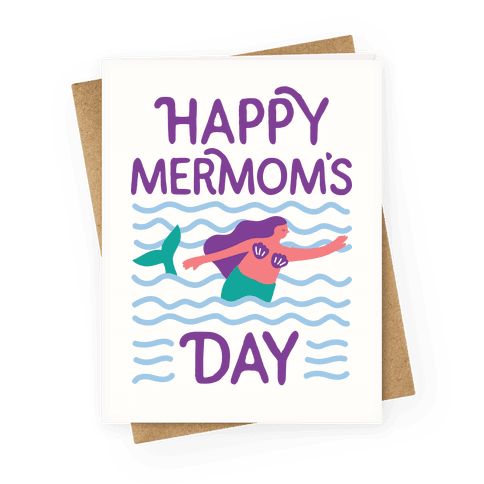Happy Mermom's Day Greeting Card
