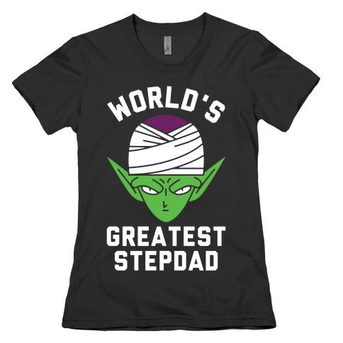 World's Greatest Stepdad Piccolo Parody Womens T-Shirt