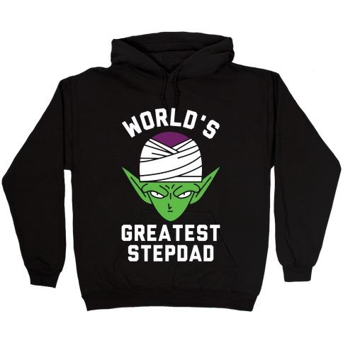 World's Greatest Stepdad Piccolo Parody Hooded Sweatshirt