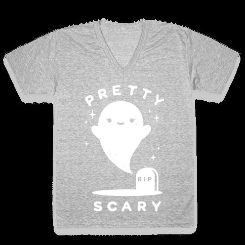 Pretty Scary V-Neck Tee Shirt