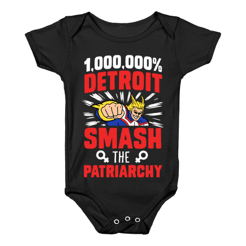 All Might Smash the Patriarchy (1000000 Detroit Smach) Baby Onesy