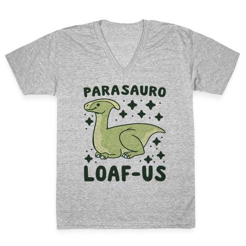Parasauro-LOAF-us V-Neck Tee Shirt