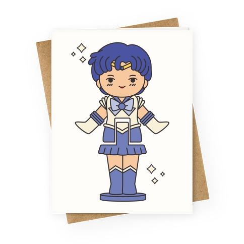 Sailor Mercury Pocket Parody Greeting Card