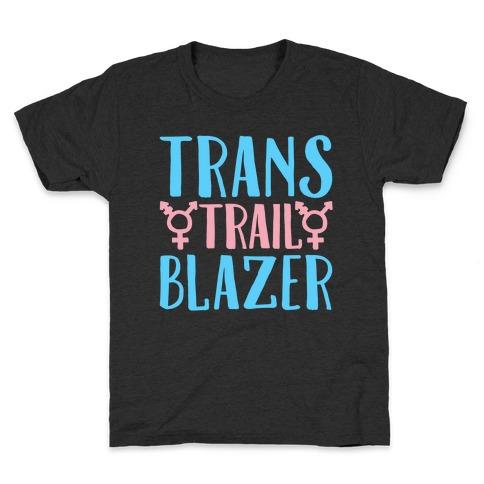 Trans Trail Blazer White Print Kids T-Shirt