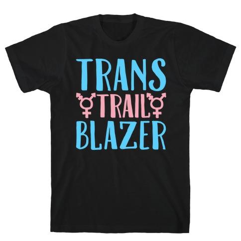 Trans Trail Blazer White Print T-Shirt