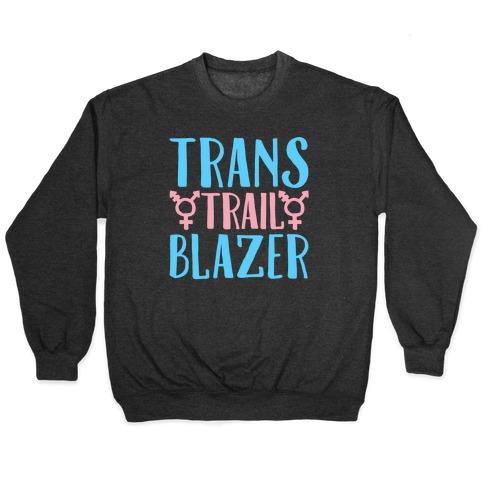 Trans Trail Blazer White Print Pullover