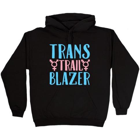 Trans Trail Blazer White Print Hooded Sweatshirt