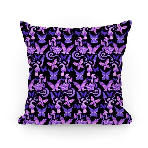 Fairy Goth Pattern Pillow