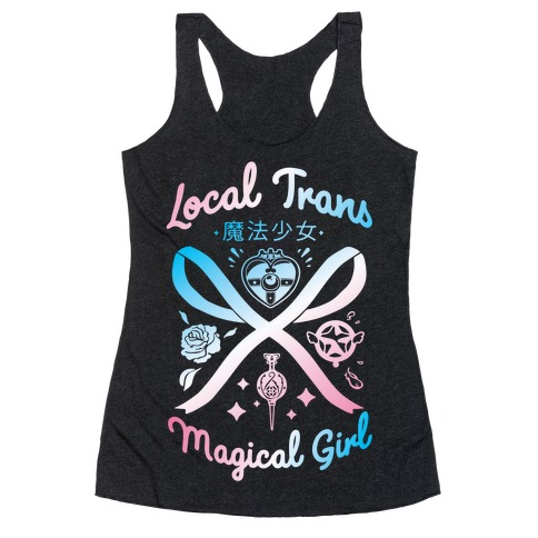 Local Trans Magical Girl Racerback Tank Top