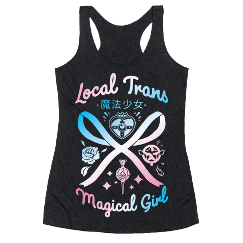 Local Trans Magical Girl Racerback Tank Top