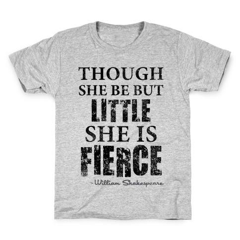 Though She Be But Little She Is Fierce (Tank) Kids T-Shirt
