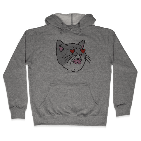 Cat With Heart Eyes Hooded Sweatshirt