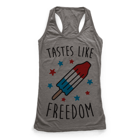Tastes Like Freedom Racerback Tank Top