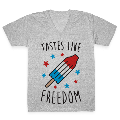 Tastes Like Freedom V-Neck Tee Shirt