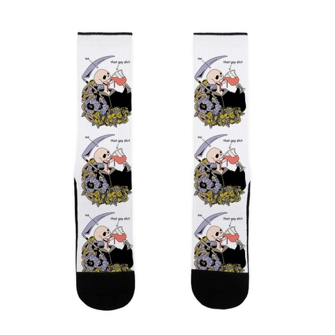 Skeleton Drinking Wine Sock