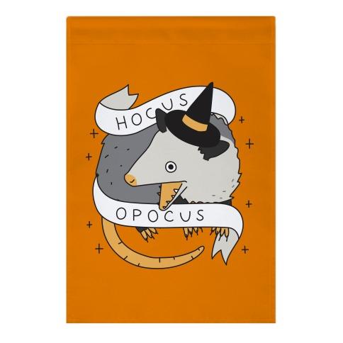 Hocus Opocus Opossum Garden Flag